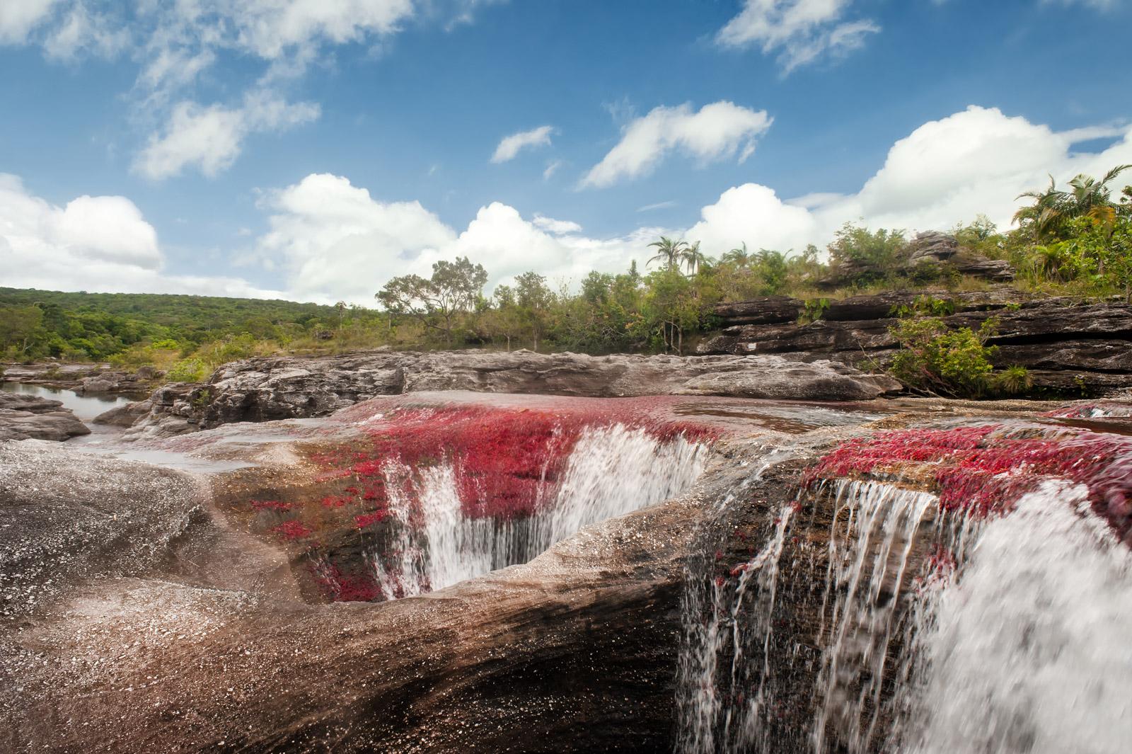Caño Cristales, cascadas en el sector de Los Ochos