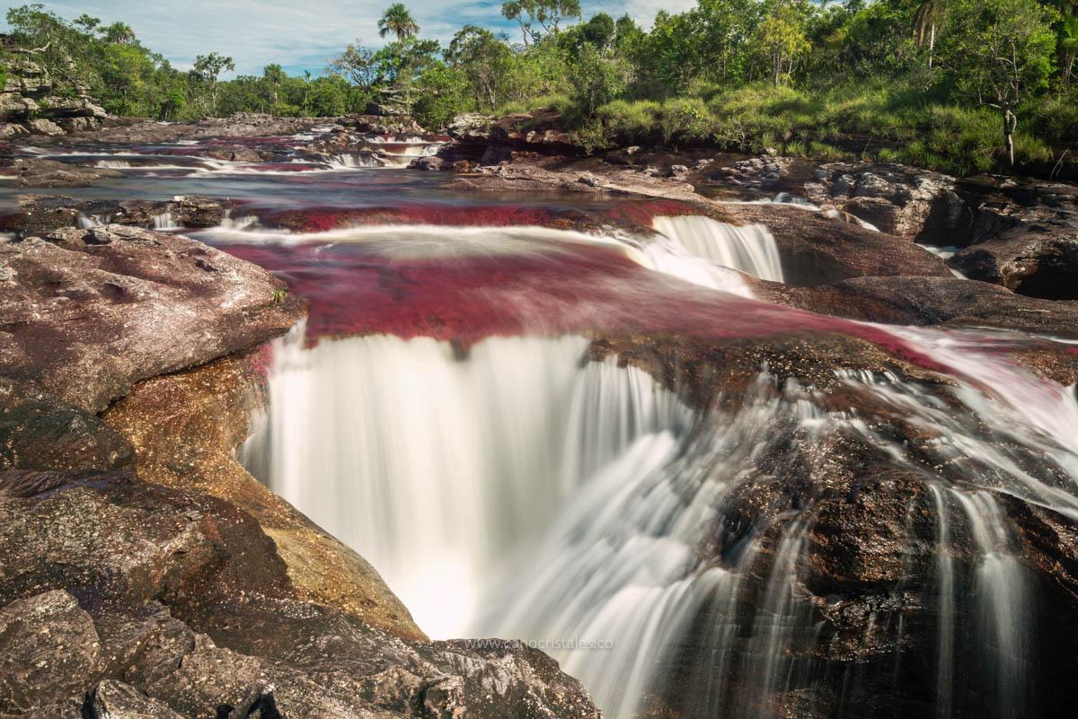 Cascada Corazón en Los Ochos / Caño Cristales, Colombia