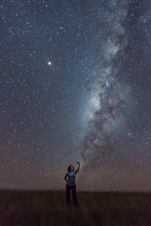 Catalina Niño, Psicóloga, en Caño Cristales, haciendo Vía Láctea
