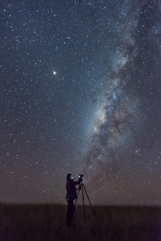 Primera Vía Láctea de la estudiante Marcela Larrarte