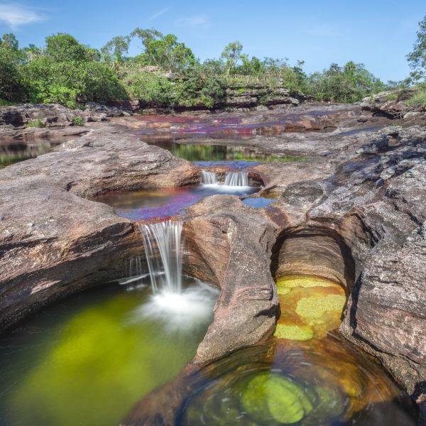 Marmitas de gigante en Caño Cristales