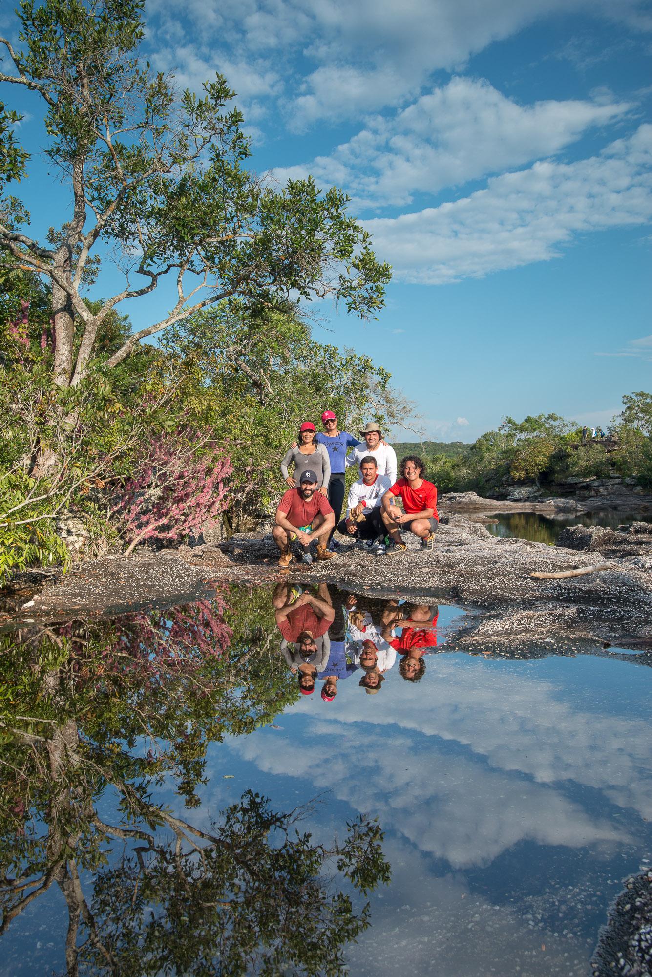 Jose Romero, un guía que nos llevó a conocer espejos de agua como este, en 2015