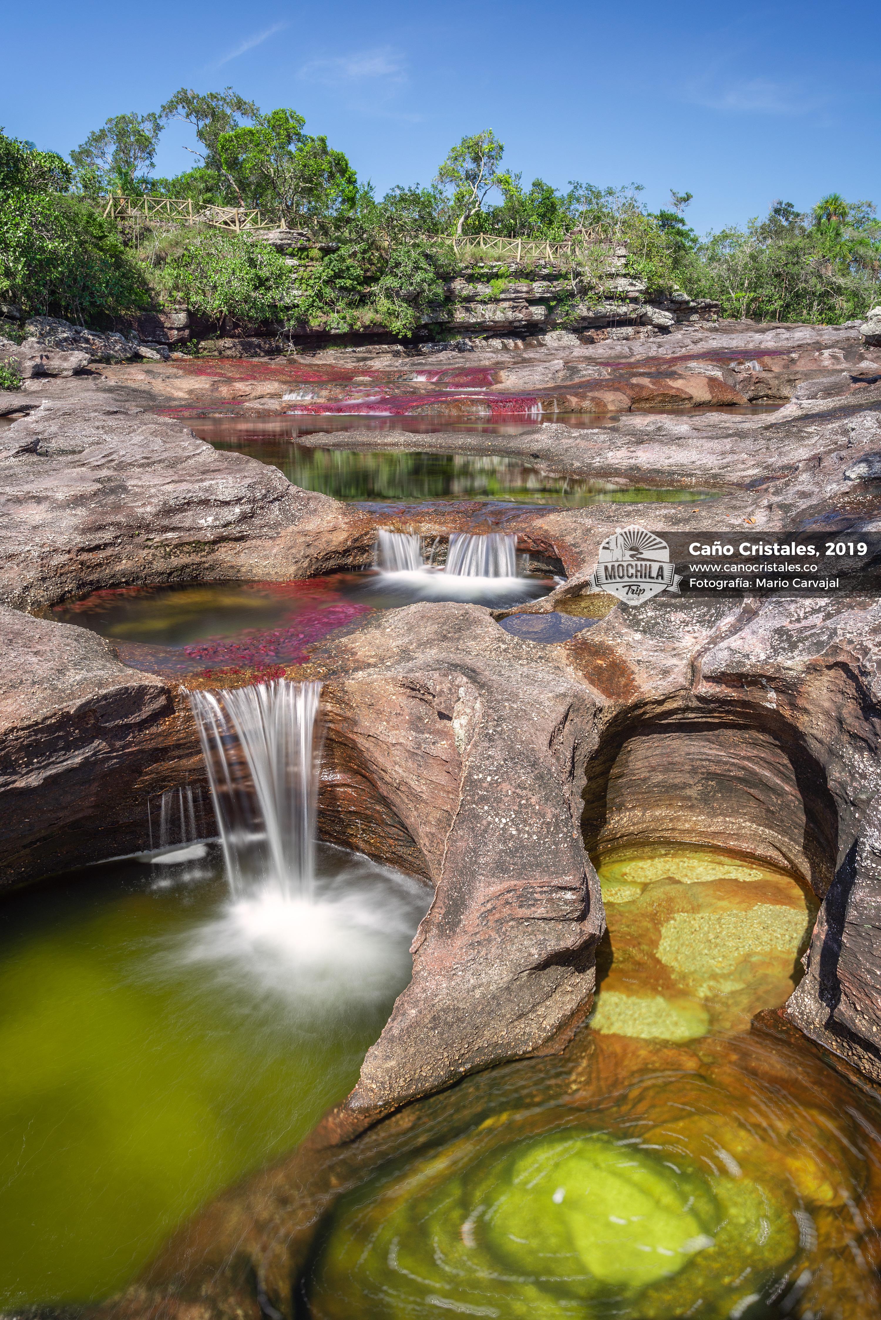 Cascadas en Los Ochos Marmitas de Gigante Caño Cristales